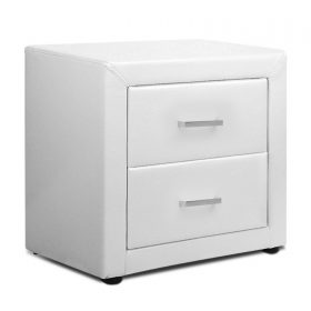 PVC Leather Bedside Table