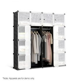 16 Stackable Cube Storage Cabinet