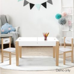 Kid's Table and Chair Storage Desk