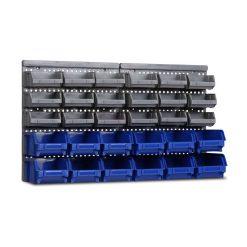 30 Bin Wall Mounted Rack
