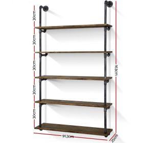 5-tier pipe shelf