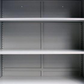 vidaXL Office Cabinet with 2 Doors Steel 90x40x180 cm Grey