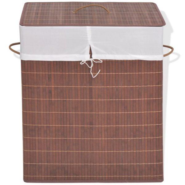 Rectangular Laundry Bin - Brown