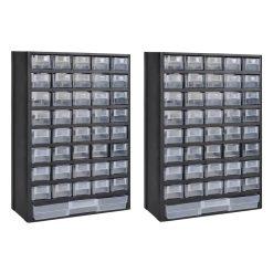 41-Drawer Plastic Storage Cabinet - 2 piece set