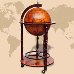 Globe Bar Wine Stand - Wood