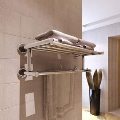 Stainless Steel Towel Rack with Shelf