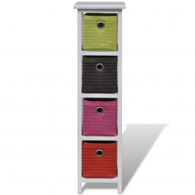 vidaXL Storage Rack with Multi-colour Baskets Wood
