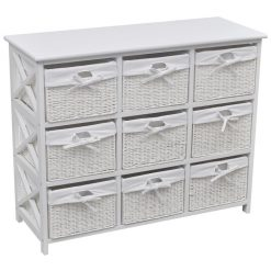 9 Basket Storage Cabinet - White