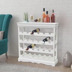 24 Bottle Wine Cabinet - White