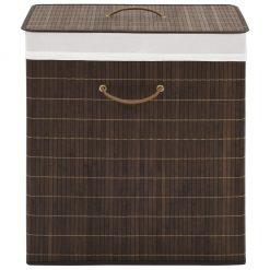 Rectangular Laundry Bin - Dark Brown