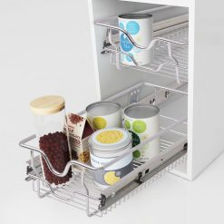 Pull-Out Wire Basket Drawers - 300 mm