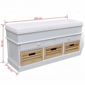 5 Drawer Entryway Bench