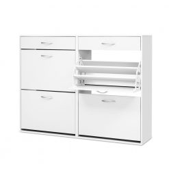 36 Pair Shoe Cabinet - White