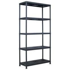 Storage Shelf Rack - Black 260 kg Plastic
