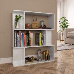 Book Cabinet - High Gloss White