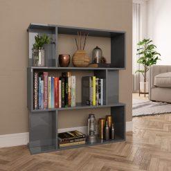 Book Cabinet - Gloss Grey