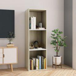 114cm Book Cabinet - White & Sonoma