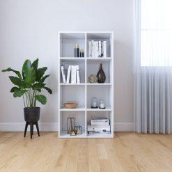 130cm Book Cabinet - High Gloss White