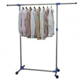 Adjustable Clothes Rack Stainless Steel - Silver