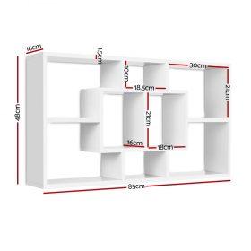 Floating Wall Display Shelf - White